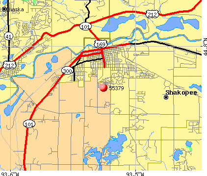 Shakopee, MN (55379) map