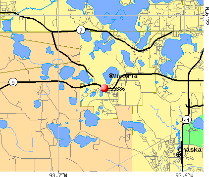 Victoria, MN (55386) map