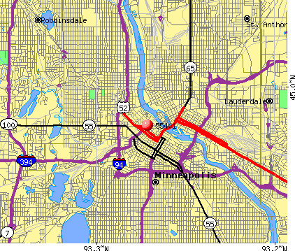 Minneapolis, MN (55401) map