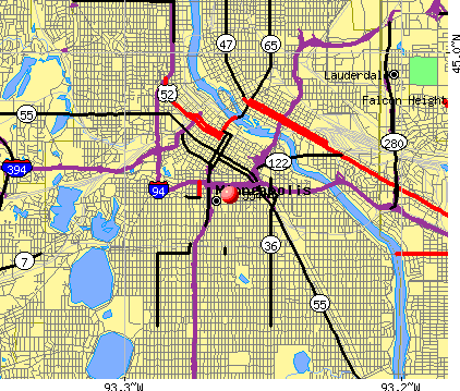 Minneapolis, MN (55404) map