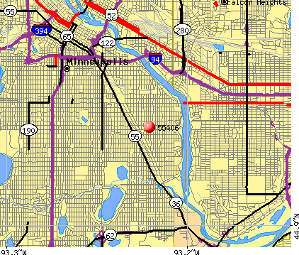 Minneapolis, MN (55406) map
