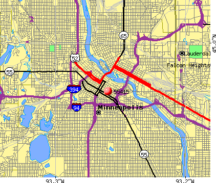 Minneapolis, MN (55415) map