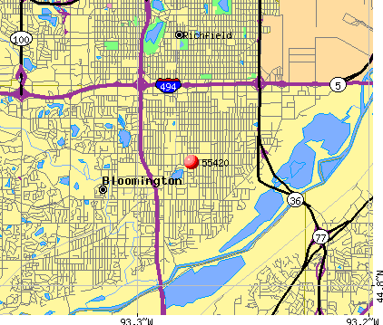 Bloomington, MN (55420) map