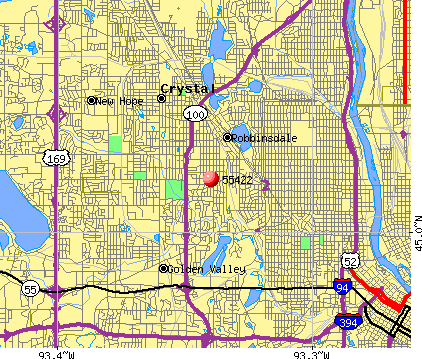 Golden Valley, MN (55422) map