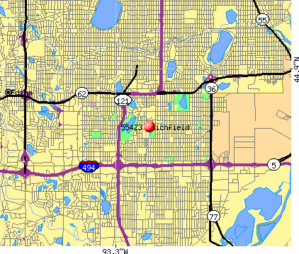Richfield, MN (55423) map