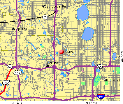 Edina, MN (55424) map