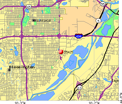 Bloomington, MN (55425) map