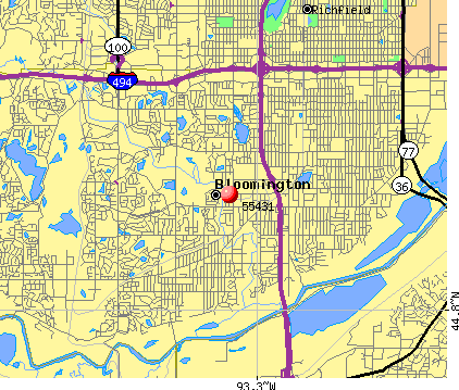 Bloomington, MN (55431) map