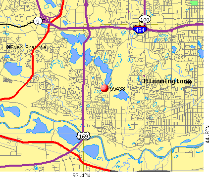 Bloomington, MN (55438) map