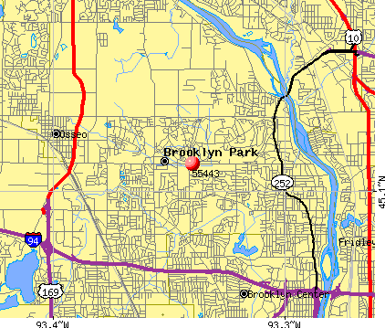 Brooklyn Park, MN (55443) map