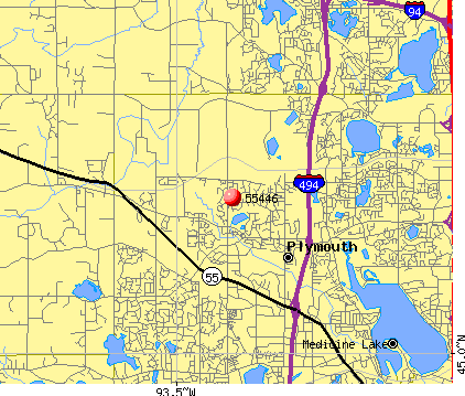 Plymouth, MN (55446) map