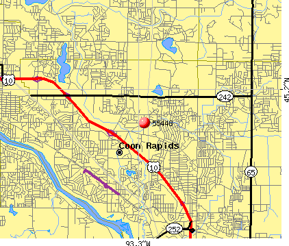 Coon Rapids, MN (55448) map