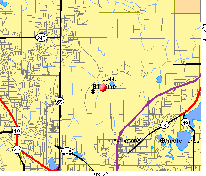 Blaine, MN (55449) map