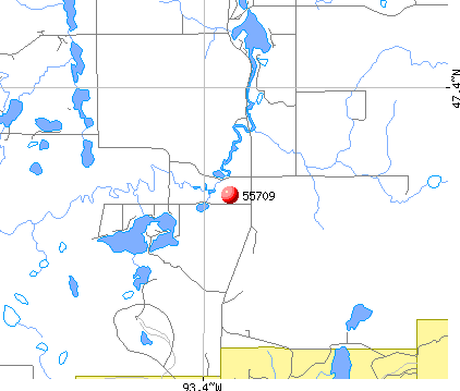 Taconite, MN (55709) map