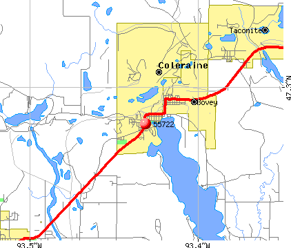 Coleraine, MN (55722) map