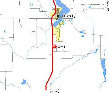 Hill City, MN (55748) map