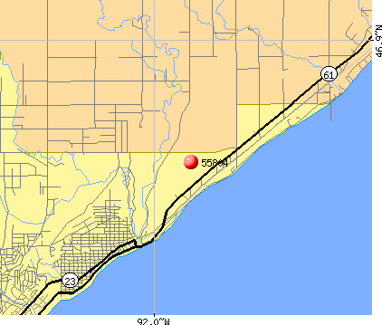 Duluth, MN (55804) map