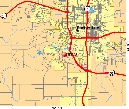 Rochester, MN (55902) map