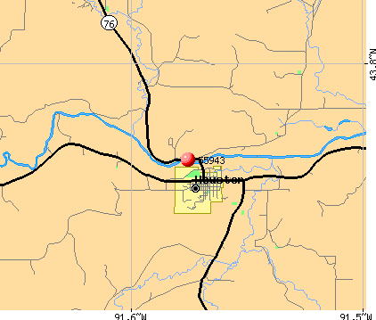 Houston, MN (55943) map