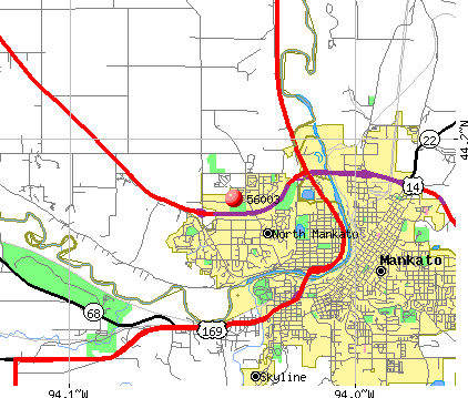 North Mankato, MN (56003) map