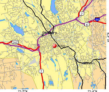 Danbury, CT (06810) map