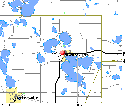 Madison Lake, MN (56063) map