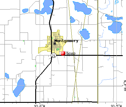 Montgomery, MN (56069) map