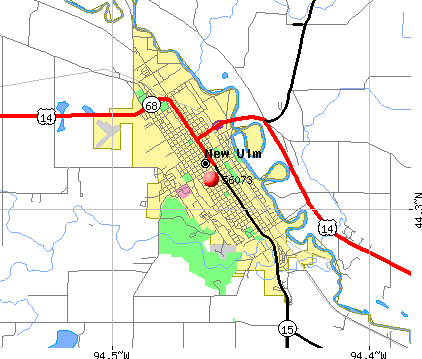 New Ulm, MN (56073) map