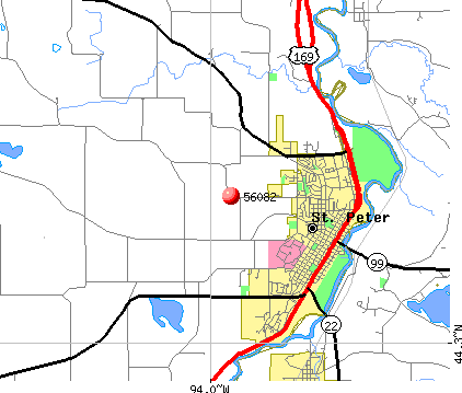 St. Peter, MN (56082) map