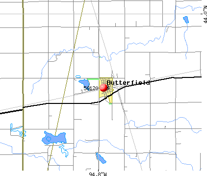 Butterfield, MN (56120) map
