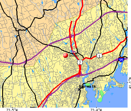 Norwalk, CT (06850) map