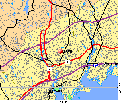 Norwalk, CT (06851) map