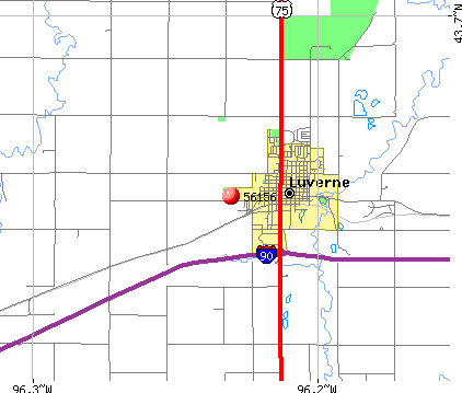Luverne, MN (56156) map