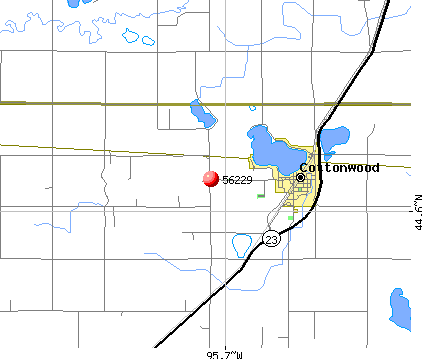 Cottonwood, MN (56229) map