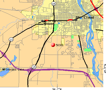 St. Cloud, MN (56301) map