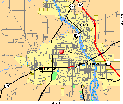 St. Cloud, MN (56303) map