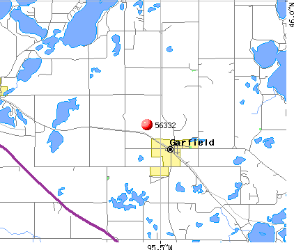 Garfield, MN (56332) map