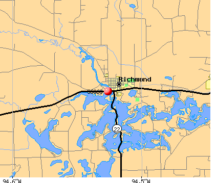 Richmond, MN (56368) map