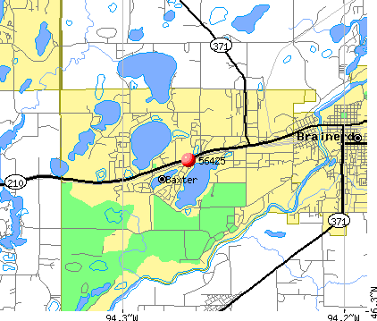 Baxter, MN (56425) map