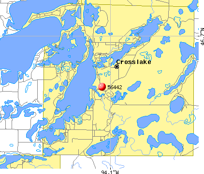 Crosslake, MN (56442) map