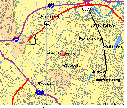 North Caldwell, NJ (07006) map
