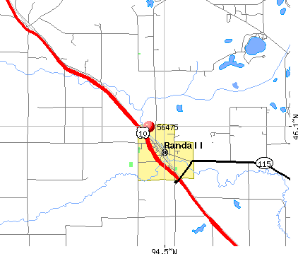 Randall, MN (56475) map