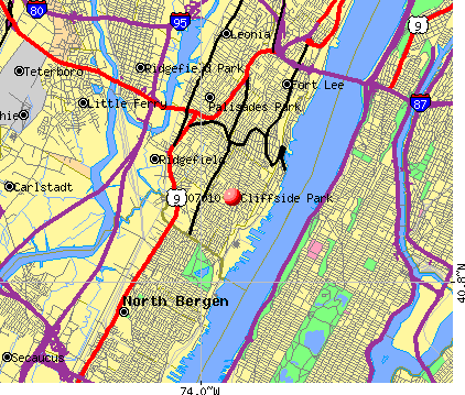 Cliffside Park, NJ (07010) map