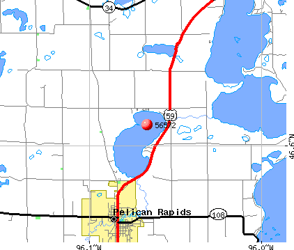 Pelican Rapids, MN (56572) map