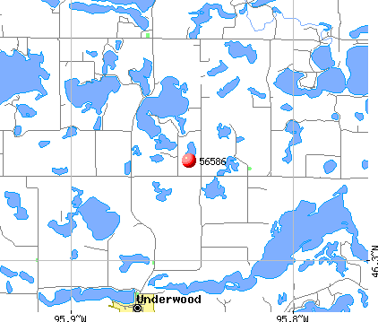 Underwood, MN (56586) map