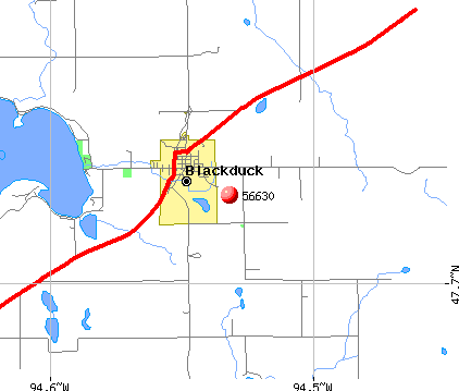 Blackduck, MN (56630) map