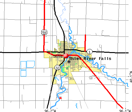 Thief River Falls, MN (56701) map