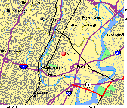 Kearny, NJ (07032) map
