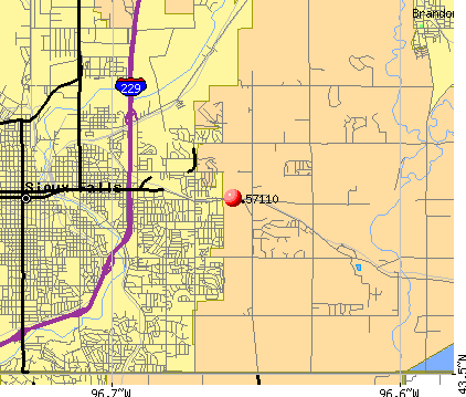 Sioux Falls, SD (57110) map