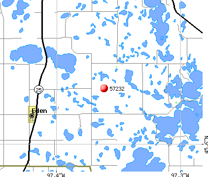 Eden, SD (57232) map